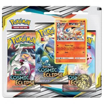 Pokemon TCG: S&M12 Cosmic Eclipse 3pk Blister - Victini