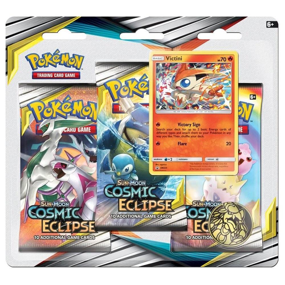Pokemon TCG: S&M12 Cosmic Eclipse 3pk Blister - Victini