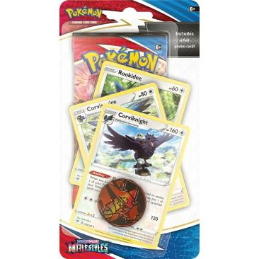 Pokemon TCG: Battle Styles - Premium Checklane Blister Rookidee + Corvishire + Corviknight